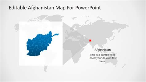 map templates for powerpoint editable afghanistan map for powerpoint slidemodel