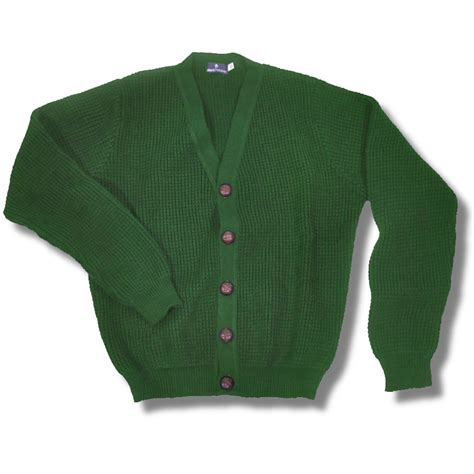 Fashion Pria Korean Style Comby Leather Green Style cardigan skinhead sweater vest