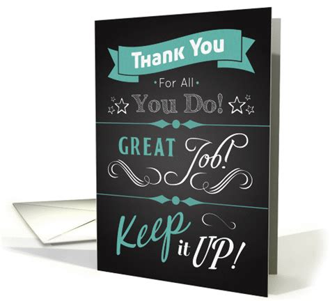 Thank You For A Well Done by Trendy Chalkboard Thank You Card In Appreciation For 1337682