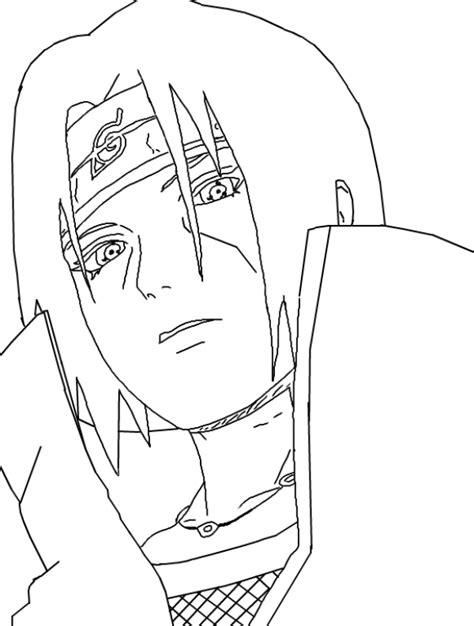 mewarnai gambar gambar sketsa itachi uchiha yang keren