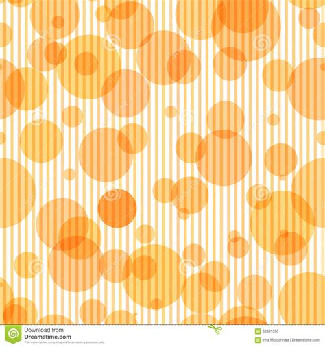 soft orange color seamless pattern with transparent circles and stock vector