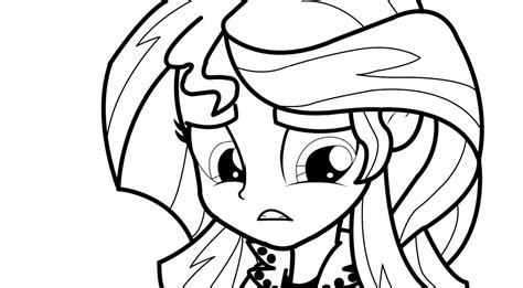 My Little Pony Equestria Girls Sunset Shimmer Coloring Page My Pony Equestria Coloring Pages Sunset Shimmer Printable