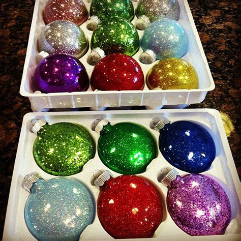 name ornaments homemade glitter ornaments happiness is