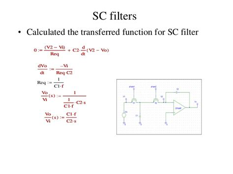 switched capacitor digital filter switched capacitor filter