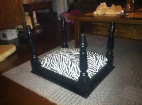 table dog bed diy cat dog bed made from an old end table with zebra