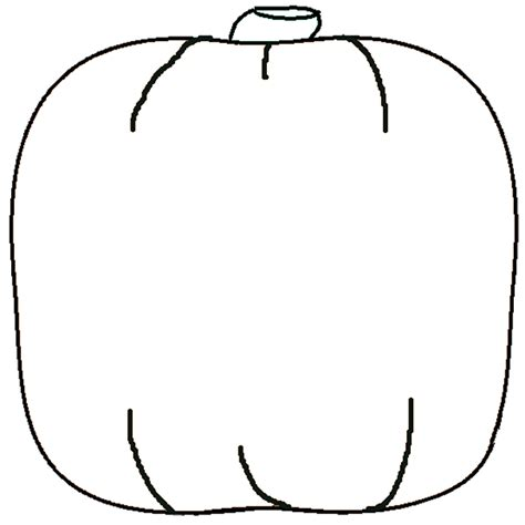 large pumpkin coloring pages best pumpkin outline printable 22961 clipartion com