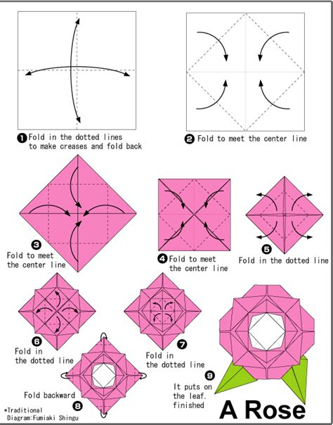 Origami Roses Easy - origami major project design
