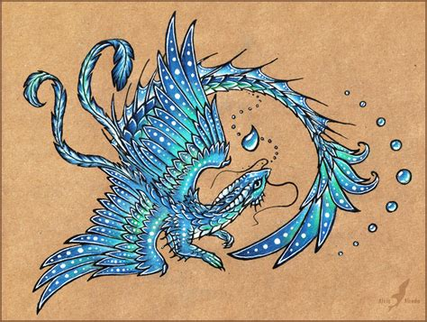 water dragon tattoo water design by alviaalcedo on deviantart