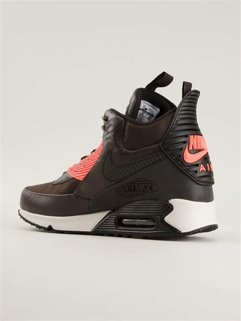 air max 90 sneaker boot nike air max 90 sneakerboot winter in brown for lyst