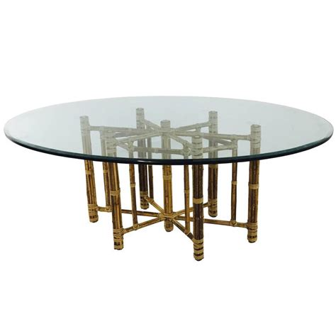 bamboo dining room table bamboo oval glass dining table by mcguire at 1stdibs
