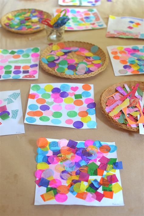 How To Make A Collage With Paper - easy shapes collage artbar