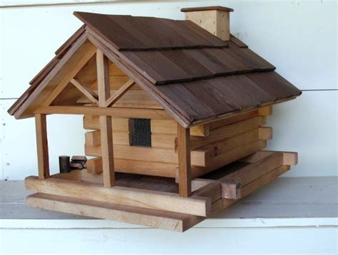 Log Cabin Bird Feeders by Log Cabin Bird Feeder Projects Cabin Logs