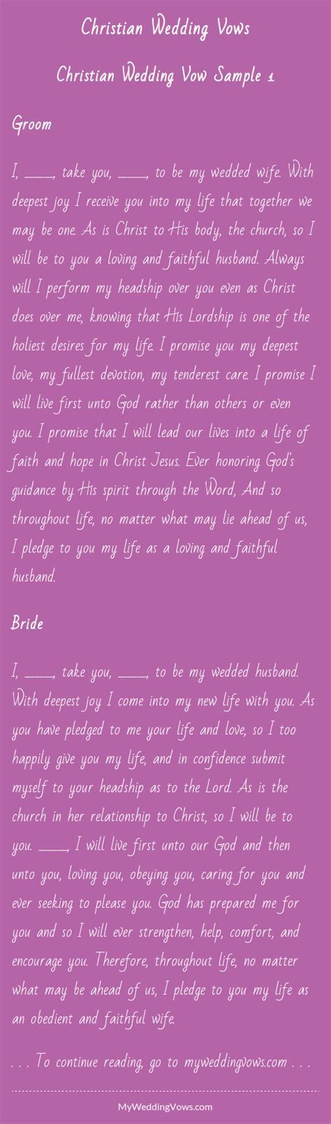 Christian Wedding Vows   Christian wedding vows, Wedding