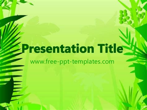powerpoint templates jungle jungle power point template