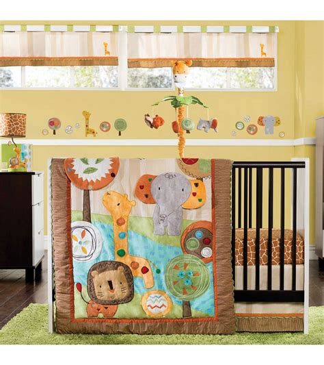 kidsline crib bedding kidsline safari dream 4 piece crib bedding set