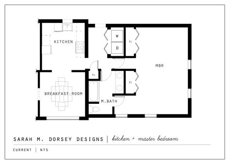 master bedroom plans sarah m dorsey designs proposed kitchen and master suite