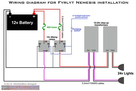 narva driving lights relay wiring diagram car light