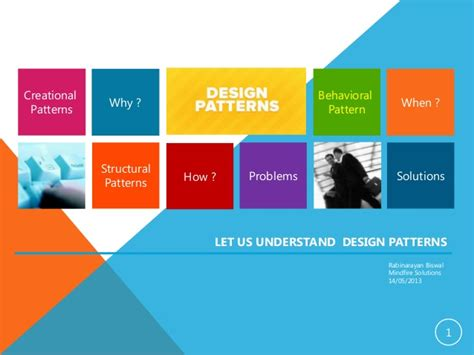 design pattern categories let us understand design pattern