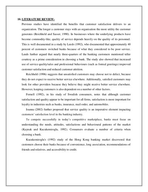 Satisfaction Essay by Literature Review Of Customer Satisfaction 187 Order Custom