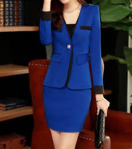 Candy color 4 colors stylish slim women skirt suits womens two tone