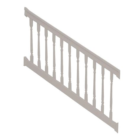 stair banister kits weatherables vanderbilt 36 in x 96 in vinyl white stair