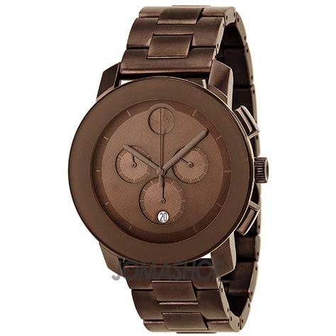 movado bold chronograph brown brown ion plated s