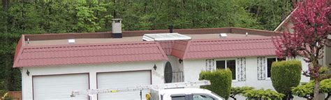 tile roof parapet new sbs flat roof installation on parapet burnaby bc