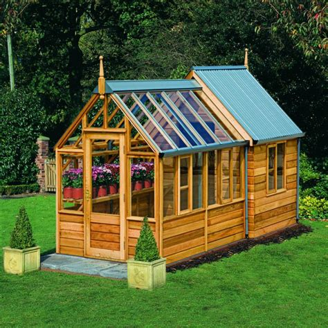 rosemoore combi greenhouseshed home greenhouse wooden
