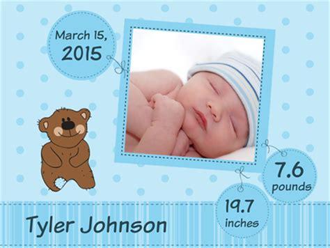 baby announcement boy car magnet signazon