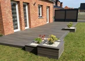 image de terrasse en bois terrasse en bois composite fiberon xtrem galaxy jardin