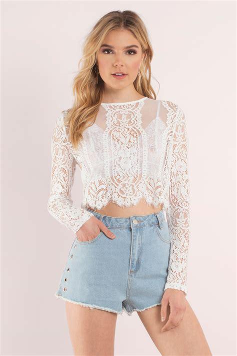 Promo Lace Blouse Black Tmc 1 lace crop tops bustier bralette crochet tobi