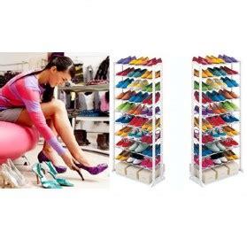 amazing shoes rack rak sepatu atau sandal white jakartanotebook