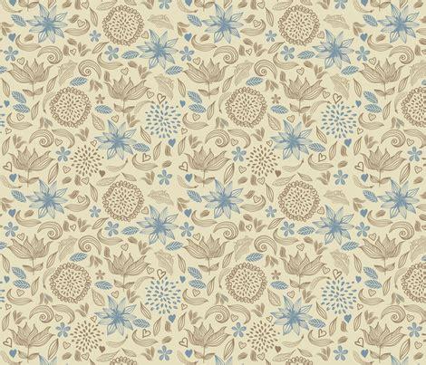 flower doodle fabric doodle vintage flowers fabric anastasiia ku spoonflower