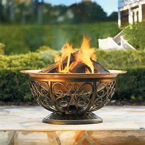 Grandin Road Outdoor Rugs Outdoor Copper Fire Pit Traditional Fire Pits By