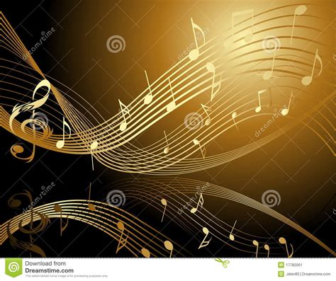 wallpaper gold music background with music notes stock image image 17782061