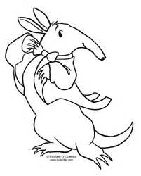 dulemba coloring page tuesday aardvark