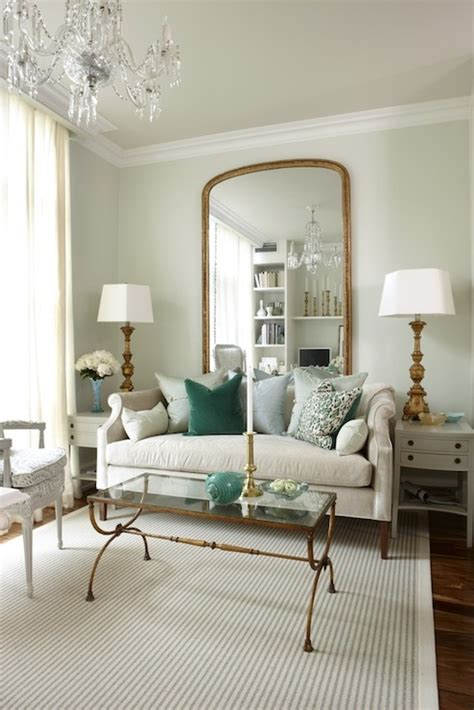 light green walls paint color floor length gold mirror