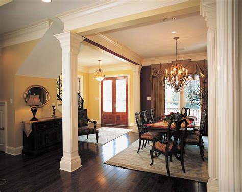 interior home columns prentiss manor colonial home plan 024s 0023 house plans