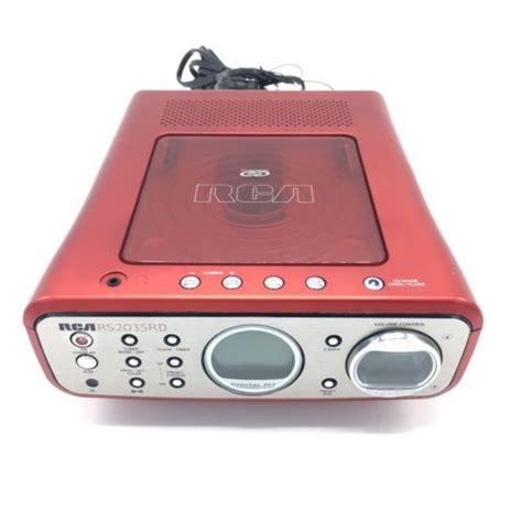 rca rs2035rd bookshelf cd cd r cd rw player and radio