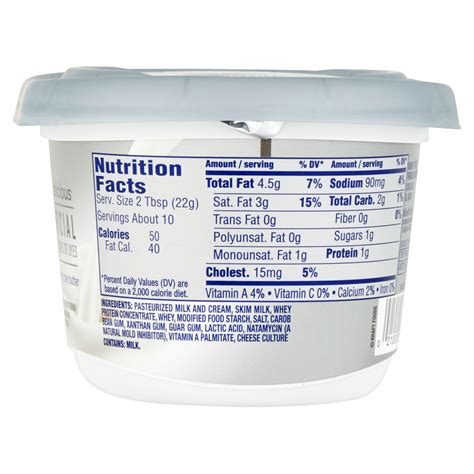 calories in light cream cheese whipped cream cheese calories 24138 loadtve