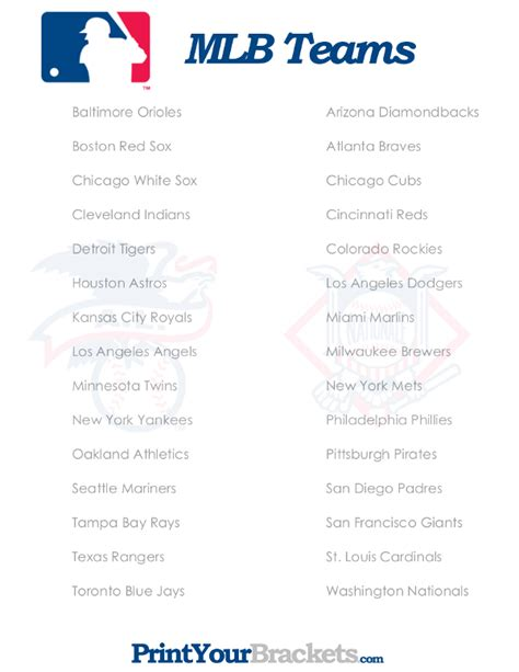 How To Pick Sheets by List Of Mlb Teams Printable