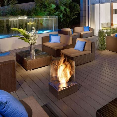 Outdoor Patio Designs Paver Patio Outdoor Fireplace With Flagstone Patio With Contemporary Brown Sofa Wooden Floor And