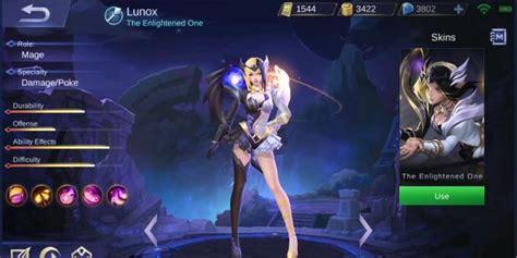 lunox mobile legends skill tanggal rilis cerita latar