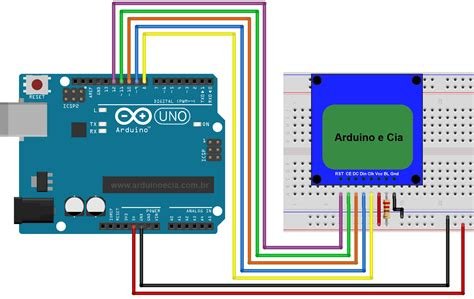 led lentypen circuito arduino e display nokia 5110 arduino