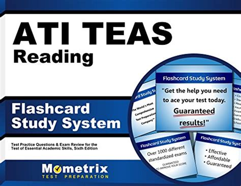 ati teas study manual sixth edition teas 6 test study guide practice test questions 6th edition book for the test of essential academic skills books ati teas reading flashcard study system teas 6 test