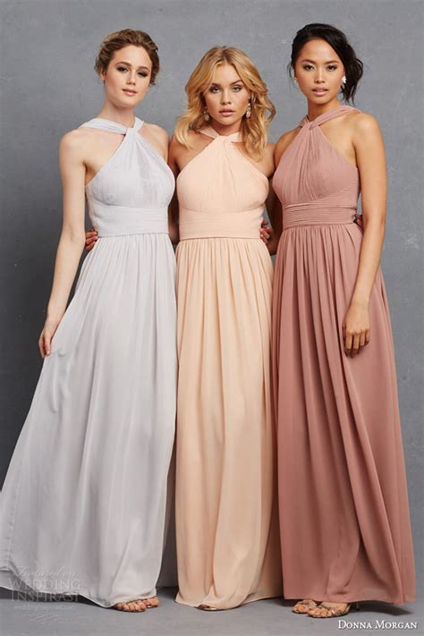 pastels and neutral colors in fashion articles pk donna morgan collection serenity collection wedding