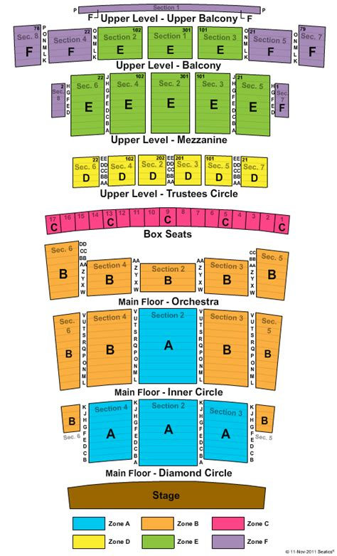 detroit opera house seating detroit opera house seating chart