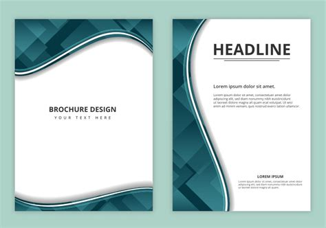 brochure header design vector free vector business brochure download free vector art