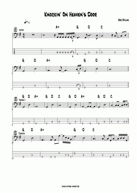 Original Knocking On Heavens Door by Four Strings Basslessons Weekly Basslines 28 Knockin On Heaven S Door Bob Eric