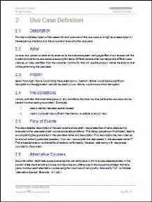 Business Requirements Definition Template Use Case Template Ms Word Amp Visio Templates